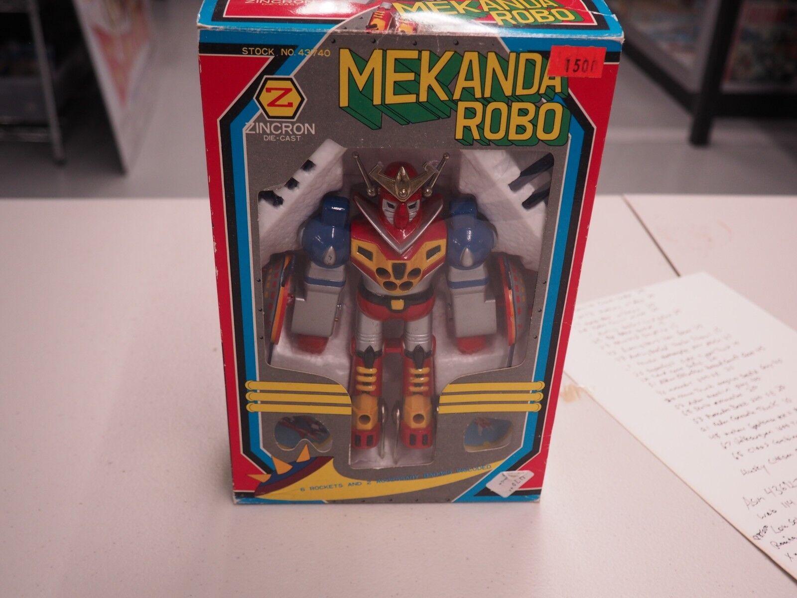 Zincron Mekanda Robo w  box die cast japan robot