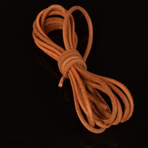 3 Colores 1 M Cuero Collar redondo del cable Cuerdas Cadena Pulsera Joyería Manualidades Hágalo usted mismo