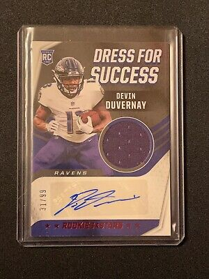 Devin Duvernay 2020 Rookies & Stars Auto Jersey Dress for RC Card Ravens 31/99   eBay