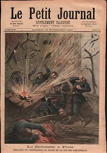 """Explosion Rue des Bons-Enfants Anarchiste Émile Henry Paris 1892 ILLUSTRATION - France - Commentaires du vendeur : """"OCCASION ATTENTION,QUE LA COUVERTURE, PAS LE JOURNAL ENTIER. Just the cover, not newspaper."""" - France"""