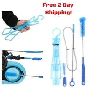 3 in 1 New Hydration Pack Water Bladder Bag Portable Cleaning Kit Brushes XS