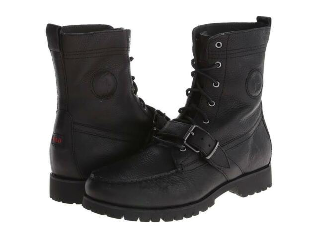 a796de41454 Polo Ralph Lauren Mens Ranger Boot Black 9 195