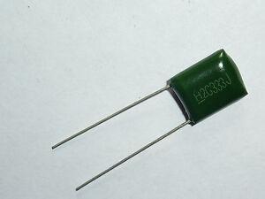 500PCS 100V 0.039uF 39nF 39000pF 2A393J ±5/% Mylar Film Capacitors Radial