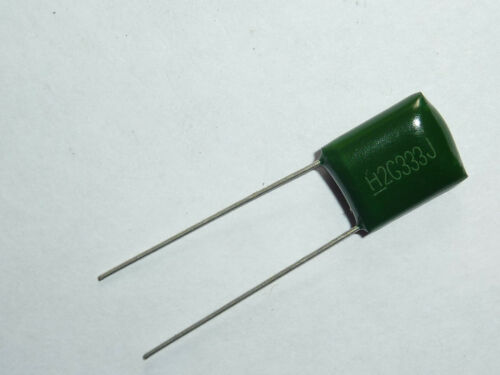 100PCS 400V 0.033uF 33nF 33000pF 2G333J ±5/% Mylar Film Capacitors Radial