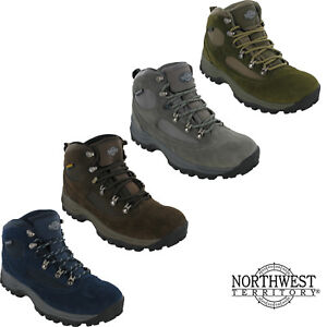 Mens-Waterproof-Walking-Boots-Northwest-Hiking-Lace-Up-Trail-Trekking-Shoes-7-12