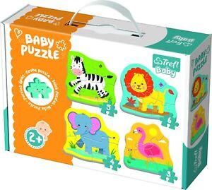 Trefl-4-en-1-Enfants-Bebe-Classique-animaux-sur-le-Safari-3-6-pieces-jigsaw-puzzles