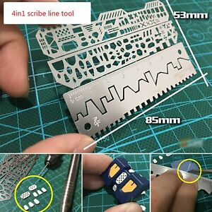 4pcs-Drill-Scribe-Line-Templates-Ruler-Details-Craft-Tools-AJ0091-Alexen-Model