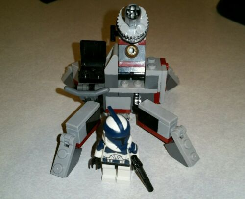Lego Star Wars Custom Commander Wolffe Clone Wars  with Cannon Set