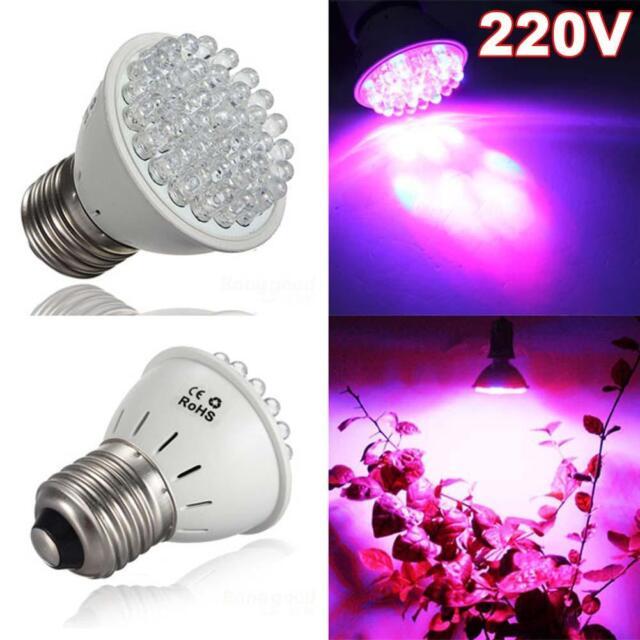 E27 38LEDS Hydroponic Garden Supplies Indoor Veg Flower Plant Grow Light 220V TL