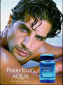 2013 Print Ad For Perry Ellis Aqua Sexy Male Model Blue Eyes Not Product 080513 Ebay