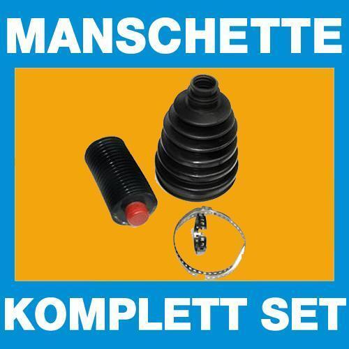 Achsmanschette Faltenbalg Manschette Antriebswelle radseitig Schellen und Fett