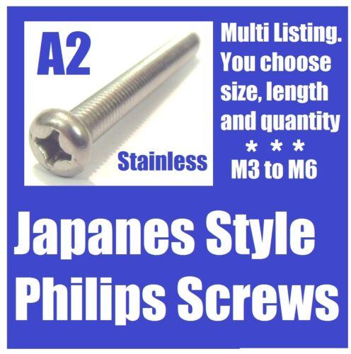 M6 M5 multi listing M4 A2 Philips Screws M3 Yamaha RD250LC
