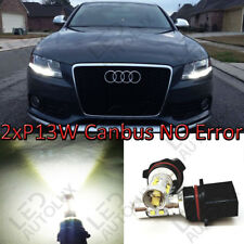 Pair P13W 43x High Power Canbus LED 10W DRL Bulbs 12V 13W For Audi A4 B8 08-15