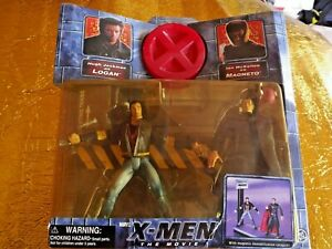 X-MEN-IL-FILM-LOGAN-Wolverine-amp-Magneto-Action-Figure-Set-2000