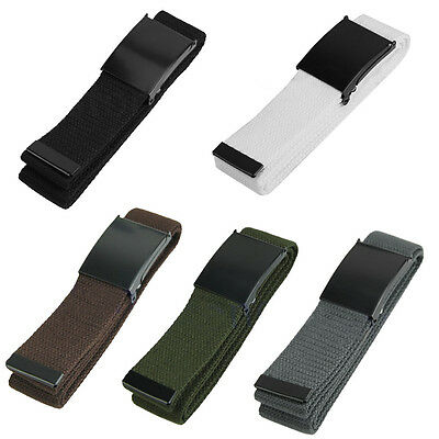 1pcs Unisex Plain Men Plain Webbing Web Military Style Canvas Green Belt Buckle
