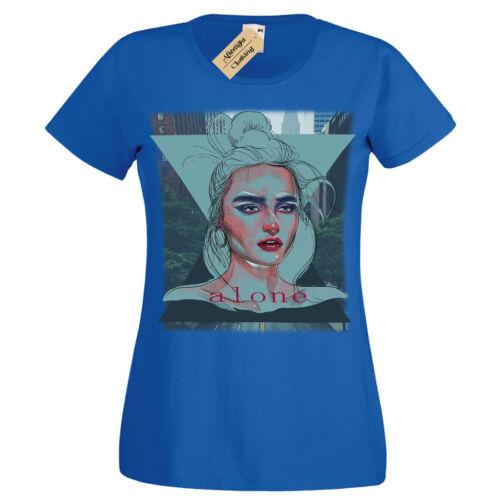 Alone T-Shirt city loner Womens