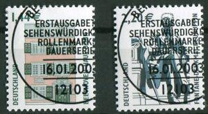Bund-2306-2307-gestempelt-LUXUS-Vollstempel-ETST-Berlin-BRD-Sehenswuerdigkeiten