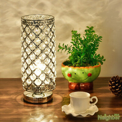 Modern Crystal LED Small Table lamp Desk lights Reading lamp Bedroom Lighting