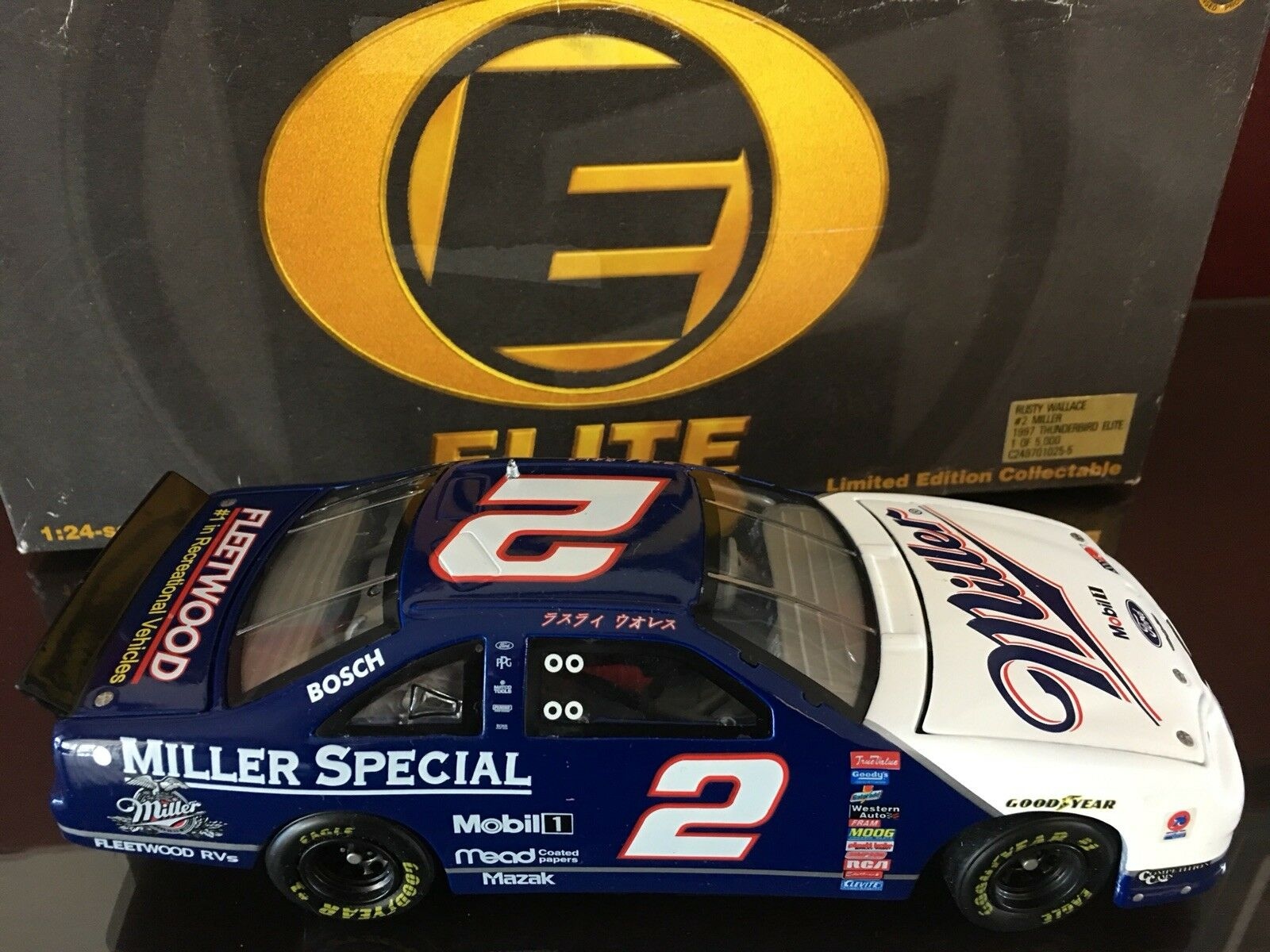 Action Elite Rusty Wallace Miller Lite 1997 Ford Tbird Japan Race