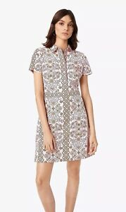 b681acf89f19 Image is loading Tory-Burch-Port-Shirtdress-Hicks-Garden-Party-2018-