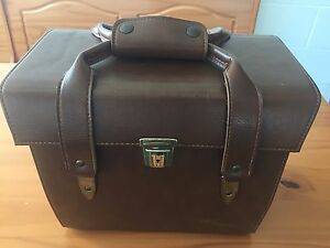 VINTAGE-FOCAL-203-brown-leather-look-Camera-Case-amp-Strap-collapsible-see-pics