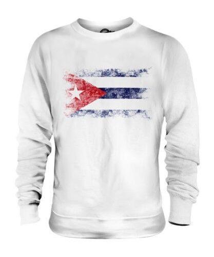 Cuba Drapeau Délavé Unisexe Pull Cubain Maillot de Football Cadeau