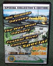 "20241 TRAIN VIDEO DVD BOX SET ""RIO GRANDE ODYSSEY & FEATHER RIVER CANYON"""