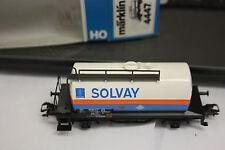 MÄRKLIN HO H0 SOMO KESSELWAGEN 4447  SOLVAY SNCB   TOP!OVP!  RX35