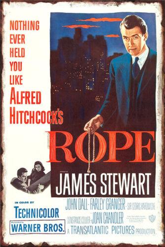 Metal Tin Sign classic film poster rope  Decor Bar Pub Home Vintage Retro