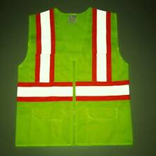 Visibility Reflective Safety Vest Stripes Traffic Warehouse Security Outdoor