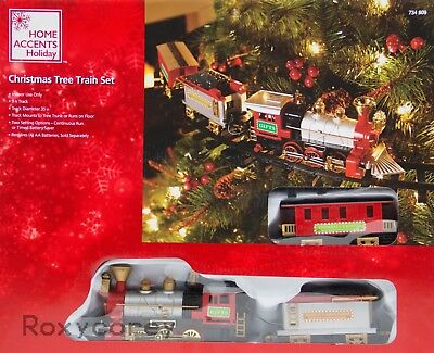 Christmas Tree Train.Home Accents Holiday Christmas Tree Train Set 9 Ft Track Nib 841493020058 Ebay