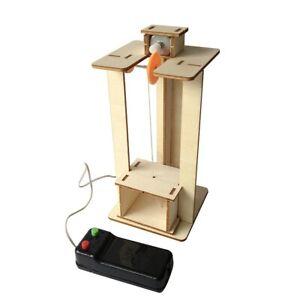 Montieren-Diy-Elektrische-Aufzug-Wissenschaft-Kinder-Lern-Spielzeug-Experim-D5O7