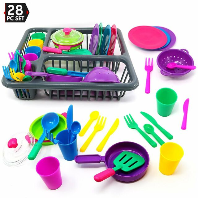 28pc Childrens Pretend And Play Kitchen