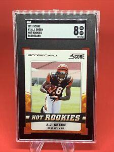2011 Score Hot Rookies A.J. Green RC #1 SGC 8 Arizona Cardinals Rookie 💎📈