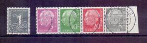 Bund-Besonderheit-Heuss-lieg-Wasserzeichen-gestempelt-Michel-170-00-530