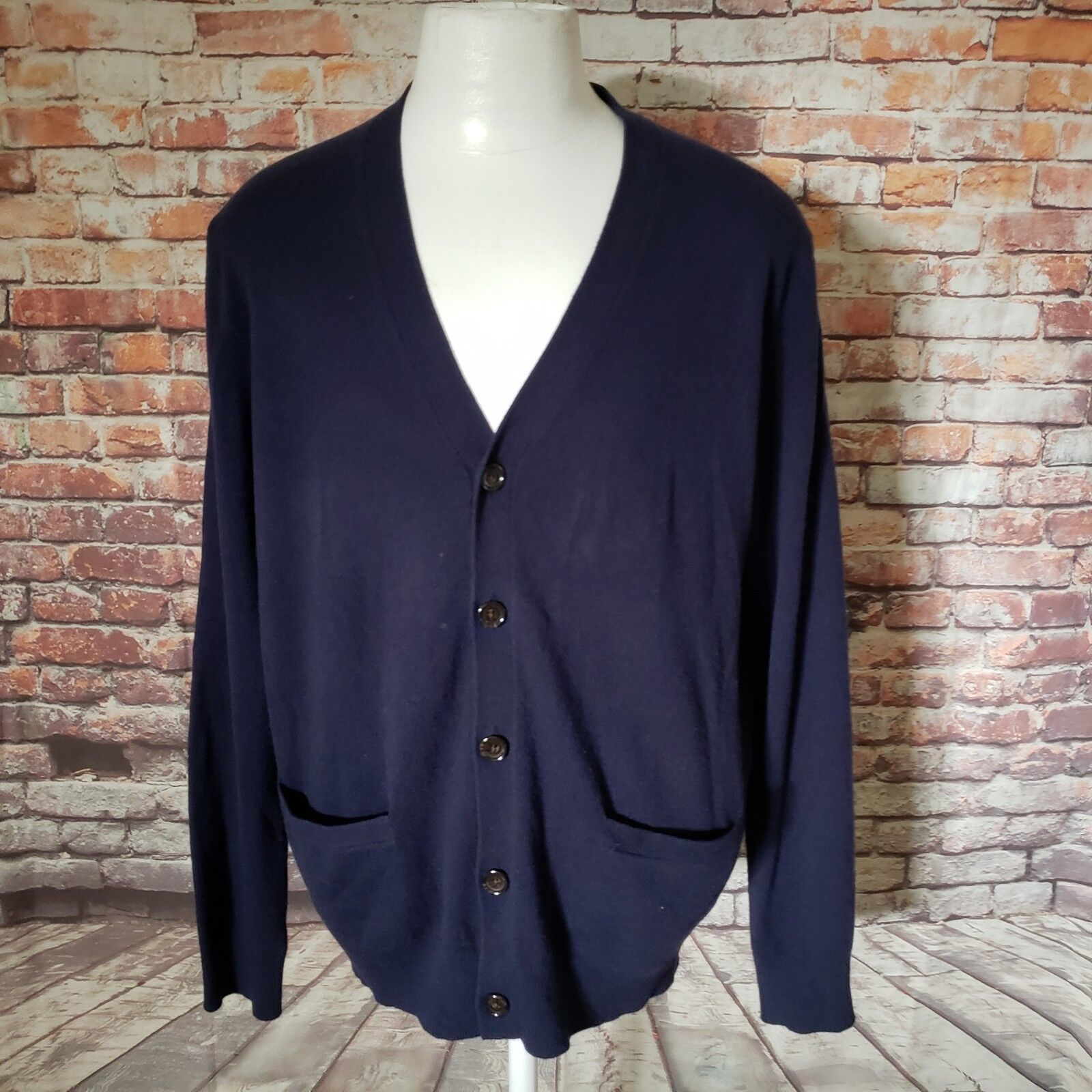 POLO RALPH LAUREN WOOL BUTTONED DOWN CARDIGAN SWEATER SIZE L A51-29