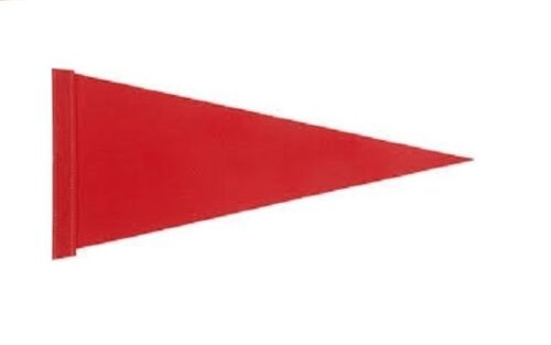 Red Pennant Bicycle Safety Flag with Axle Mounting Bracket NEW 6 ft