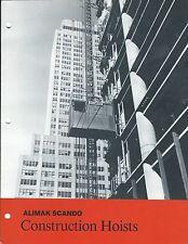 Equipment Brochure Alimak Scando Construction Hoists Lift Elevator E3418
