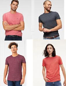Tommy-Hilfiger-Jeans-tjm-Flameada-Ajustado-Cuello-Redondo-Camiseta-Top-S-M-L-XL