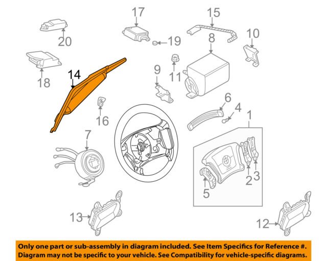 bmw oem 00-01 750il airbag air bag srs-inflator module 72127001426