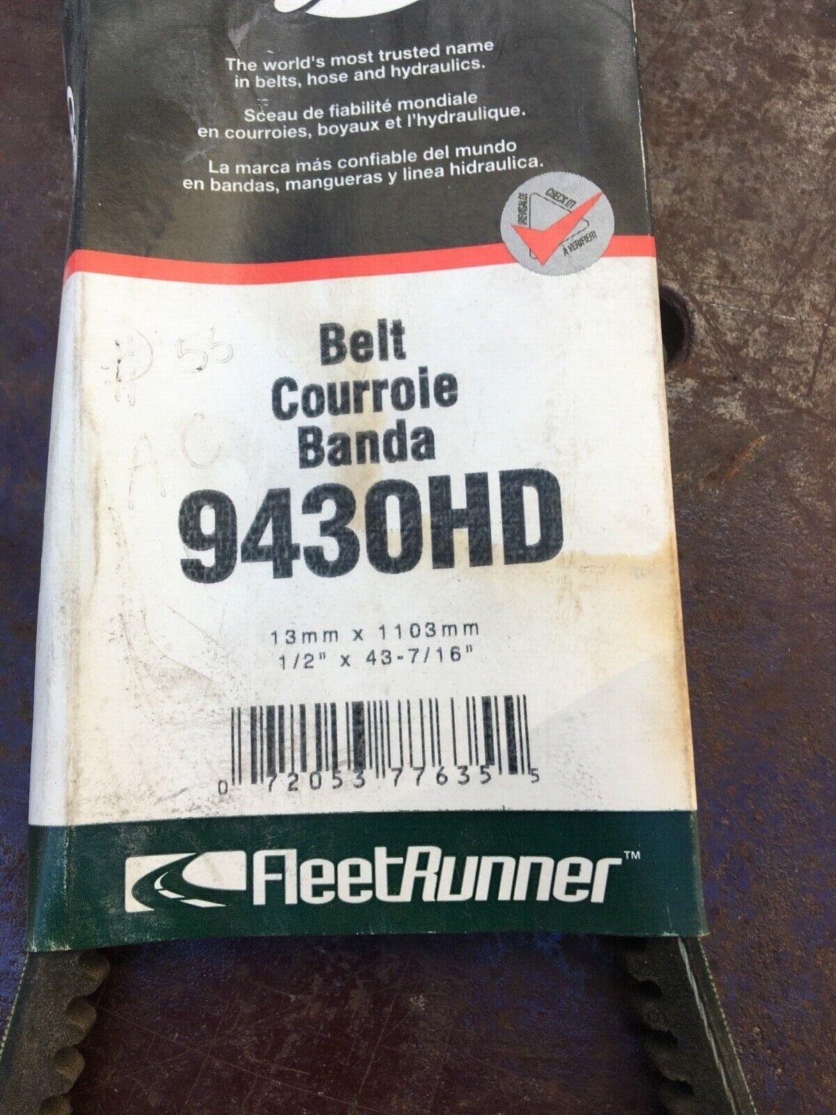 Gates 9430 Accessory Drive Belt for B8QH 8620 E 43390160 425821 E400K203 pb