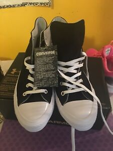 new arrivals for sale choose newest Details about CHUCK TAYLOR CONVERSE ALL STAR HIGH TOPS: BLACK: SIZE 6 MEN:  SIZE 8 WOMEN