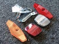 Complete Bicycle Bike Wheel / Spoke Front & Rear Safety Reflector Set Mint