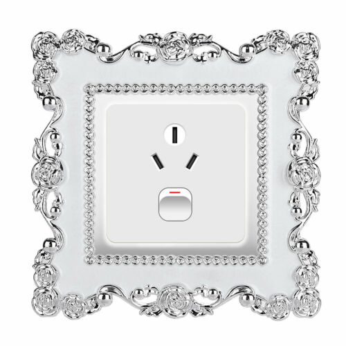 Square Shape Home Switch Cover Switch Wall Light Socket Stickers Room Decor W1M8