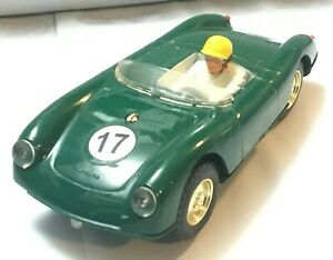 Triang-Scalextric-Porsche-MM-C6I-Made-in-England-Dark-Green-Good-Condition