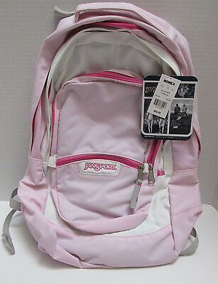 New NWT Jansport Pink Pixie & white 20m Backpack, AirCore Suspension System