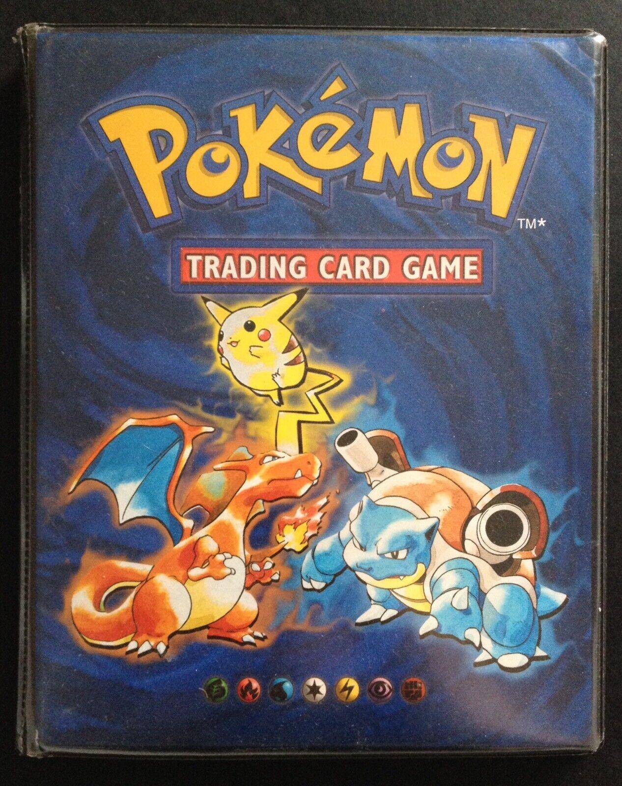 Pokey Original binder A5 - katalog RARE blå Ash Pikachu Blast Charizard