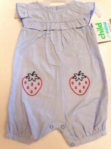 Romper Baby girls strawberries 1 piece Clothes Outfits Carter's  0/3mos, 3/6mos