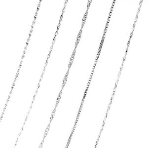 Fashion-DIY-Jewelry-Snake-Chain-Accessories-925-Silver-Women-Chokers-Necklace