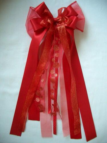 Schleife*Schultüte*Zuckertüte*Schultütenschleife*Einschulung*rot*rot-weiß